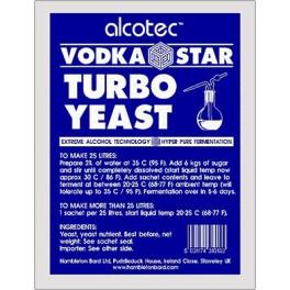 Alcotec Turbo Vodka Star fajélesztő csomag (66g)