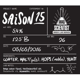 Mad Scientist - Saison 15 (0,33l)