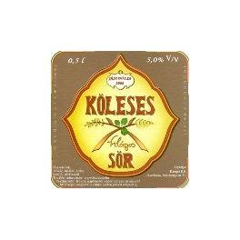 Köleses sör (0,5l)