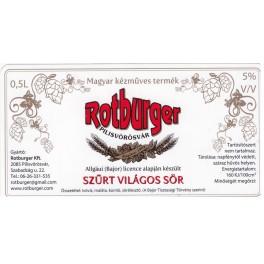 Rotburger - Szűrt Világos (0,5l)
