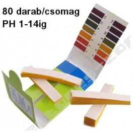 Univerzális pH indikátor papír 1-14 pH 80 db