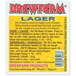 BrewFerm Lager sörélesztő 12g