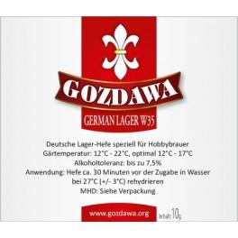 Gozdawa German lager GW35 sörélesztő 10g