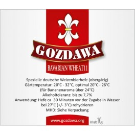 Gozdawa Bavarian Wheat 11/ bajor búza  sörélesztő 10g