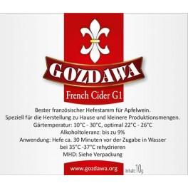 Gozdawa French Cider G1  FCG1 almabor élesztő 10g