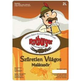 Rotburger Szűretlen Világos Malátasör (1l)