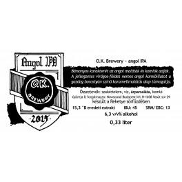 Angol IPA - O.K. Brewery (0,33l)